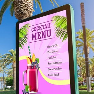 Summer digital signage