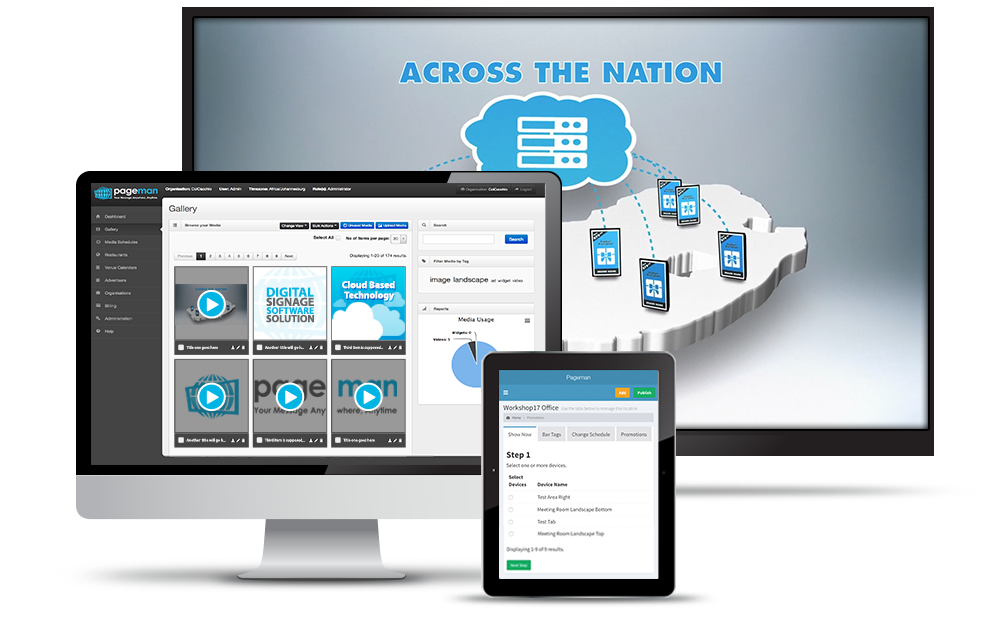 Digital Signage Solutions | Cloud Based Software | Pageman com